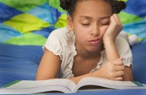 Homework- sleeping while doinog