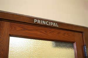 principal's office sign