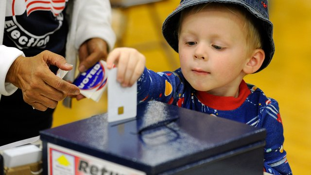 Young Boy voting